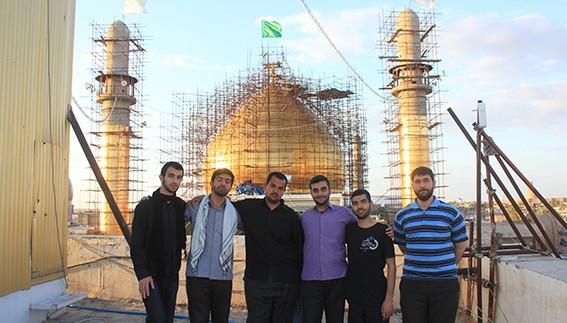 بازسازی حرمین عسکریین علیهما السلام توسط دانشجویان جهادی دانشگاه امام صادق علیه السلام + عکس