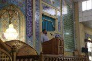 گزیدهای از سخنرانی نماینده بسیج داشجویی دانشگاه امام صادق (ع) پیش از خطبههای نماز جمعه در پاکدشت+فیلم